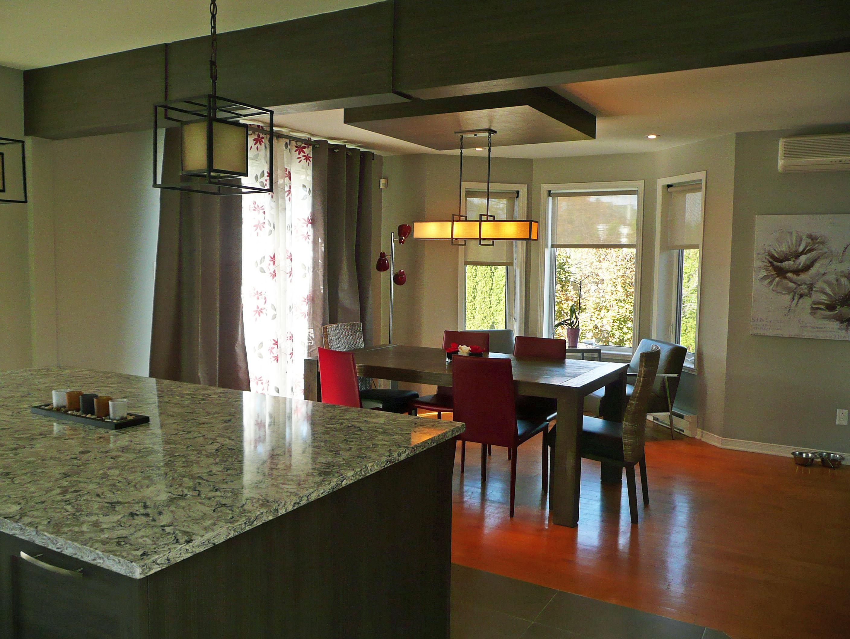 GE Design   Cuisine aire ouverte sur la salle à manger