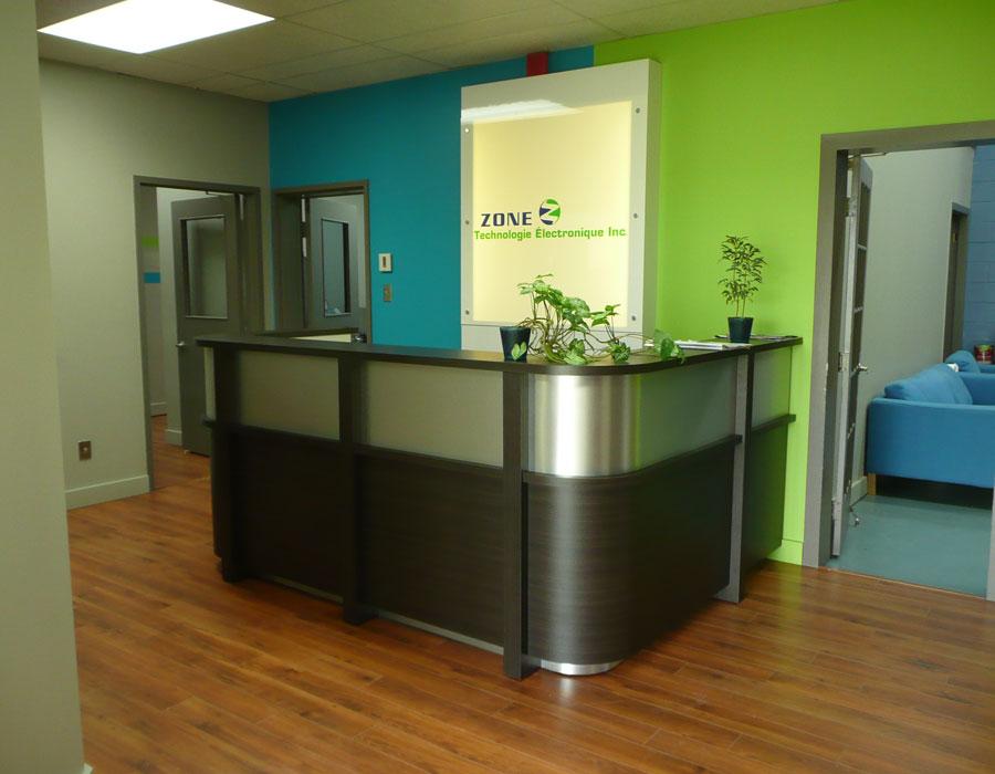 Aménagement d'une nouvelle réception et nouveaux bureaux